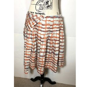Maeve Layered Geometric Skirt
